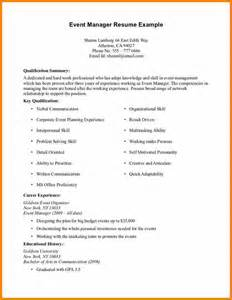 Resume Exles For Experience by 5 Resume Exles With No Experience Bid Template