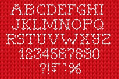 knitting pattern fonts set of knitted font and patterns illustrations on