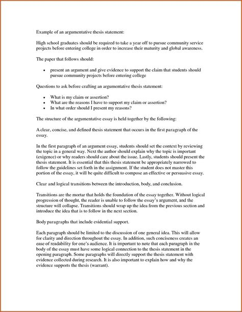 Exle Of Thesis Statement For Argumentative Essay by Thesis Statement Template Sop Exle