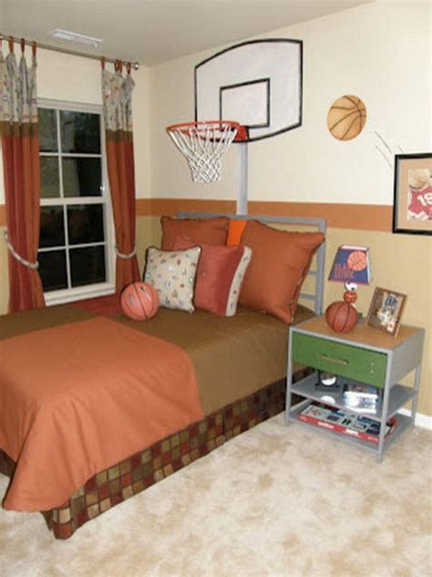 Basketball Bedroom by Custom Bedroom With Basketball Theme Painting Kid S