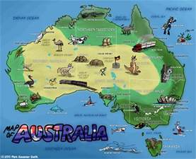 detailed travel map of australia australia detailed