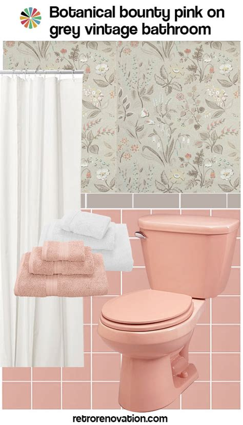 12 ideas to decorate a pink and gray vintage bathroom retro renovation