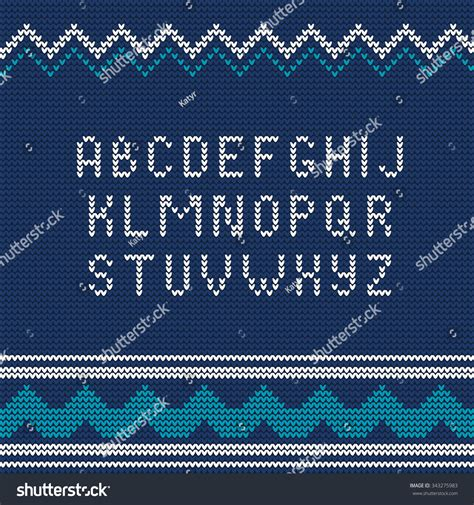 sweater pattern font vector illustration of christmas knitted font ugly sweater