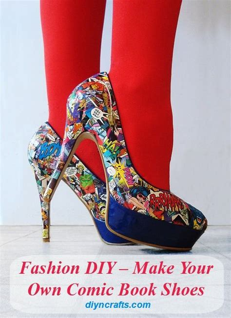 make your own shoes diy fashion diy make your own comic book shoes tights