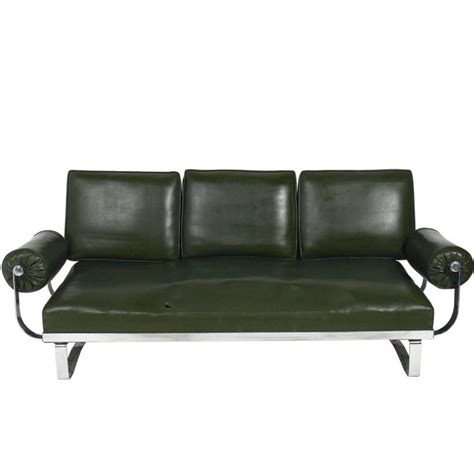 art deco sofas for sale rare art deco chrome strap sofa by mckay for sale at 1stdibs