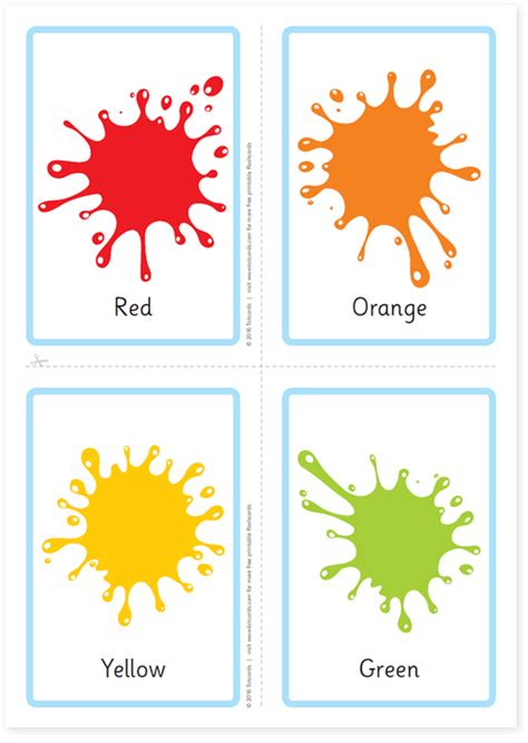 color flashcards free colour flashcards for totcards