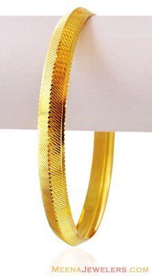 pattern of gold kada light weight 22k punjabi kada bamk16476 22k gold