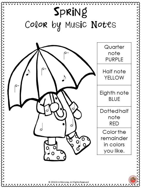 spring music coloring pages 2028 best images about music teacher on pinterest