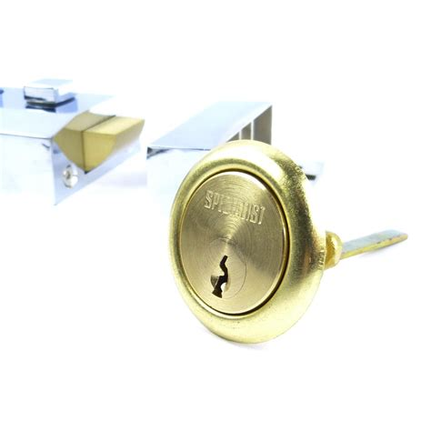Chrome Finish Double Locking Nightlatch 60mm Front Door Front Door Deadlocks