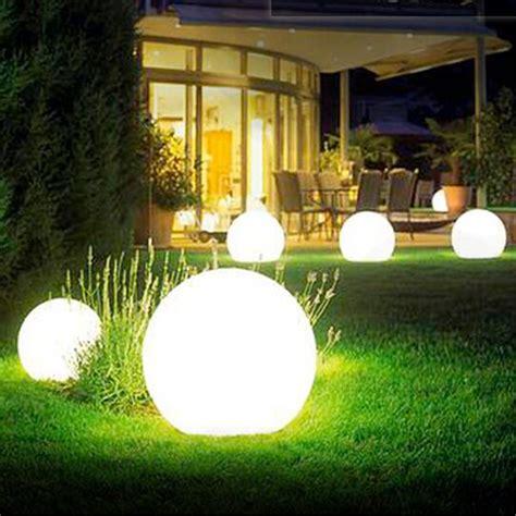 waterproof creative modern round ball pe led rgb table