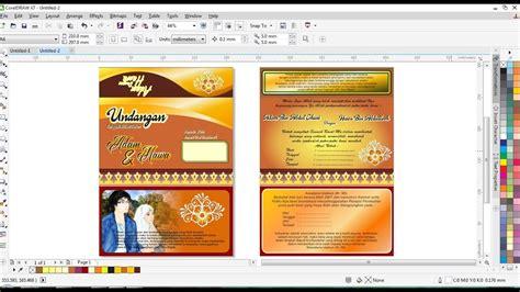 desain kartu undangan coreldraw cara buat desain kartu undangan di coreldraw youtube