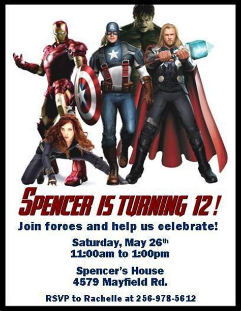 printable invitations avengers the avengers personalized birthday thenotecardlady