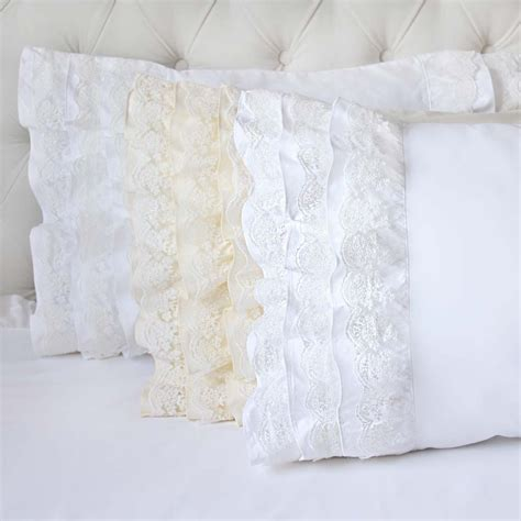 White Lace Pillow Shams by Lace Pillow