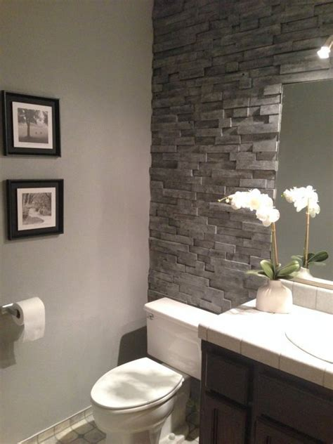 bathroom stone wall home decor ideas