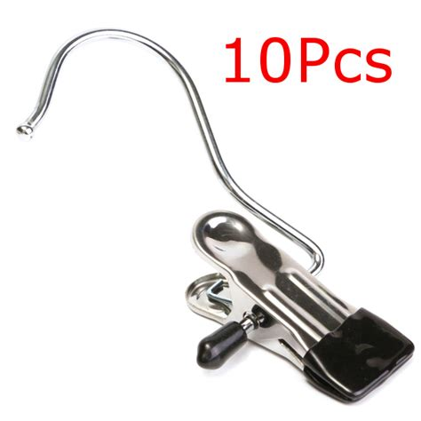 Hanger Gantungan Serbaguna Stainless Steel 10pcs 10pcs stainless steel clothes coat hanger for home travelling laundry alex nld
