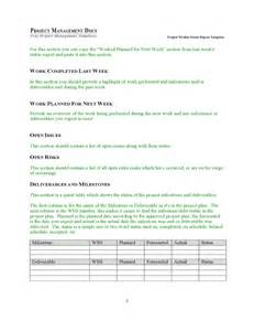 weekly status template weekly project status report template free