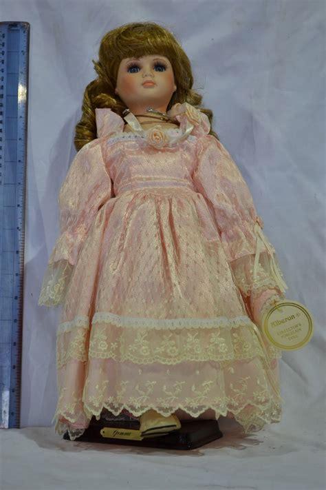 48 porcelain doll alberon porcelain doll gemma doll as new box worn