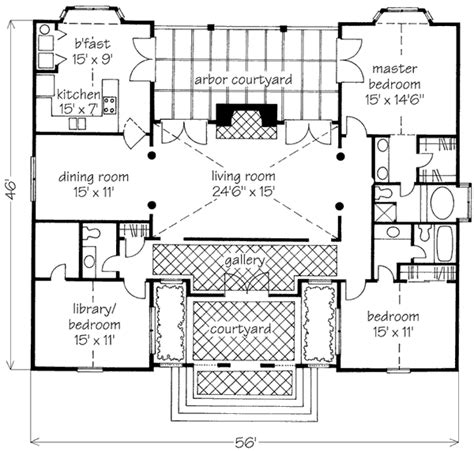 classic home plans classic villa courtyard david sulivan southern living