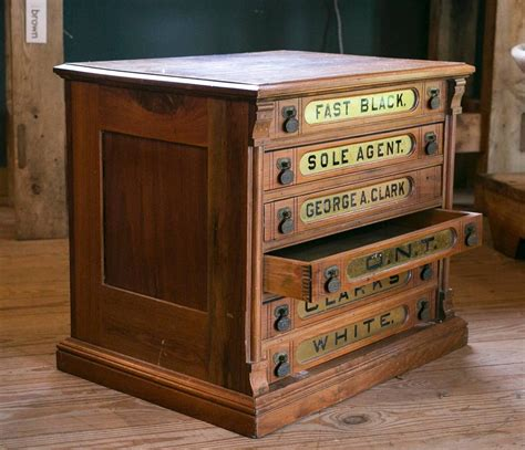 6 drawer spool cabinet antique clark s six drawer spool cabinet at 1stdibs