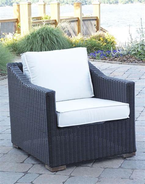 patio wicker outdoor portafina chair black forest finish