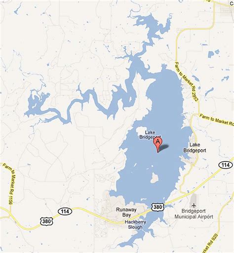 lake texas map lake bridgeport