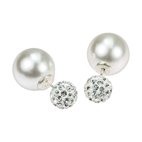 disco white pearl reversible 925 silver front back