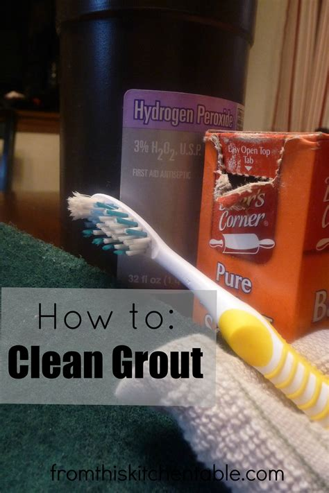 how to clean grout from this kitchen table