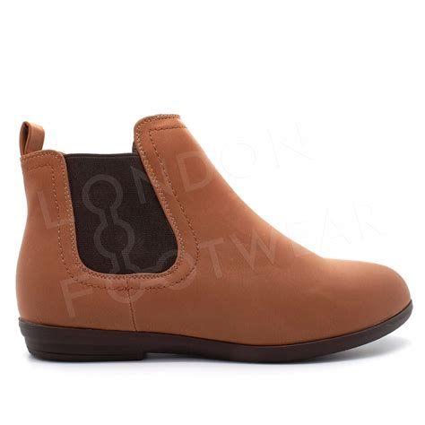 Flatshoes Vasco 8 new womens flat low heel chelsea boots classic ankle shoes size uk 3 8 ebay