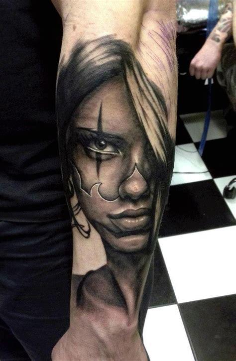 tattooed face realistic tattoo best tattoo ideas gallery