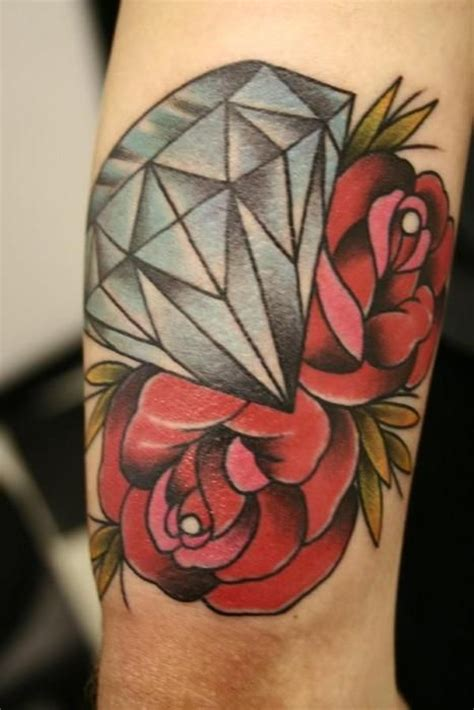 diamond and roses tattoo i fucking love tattoos