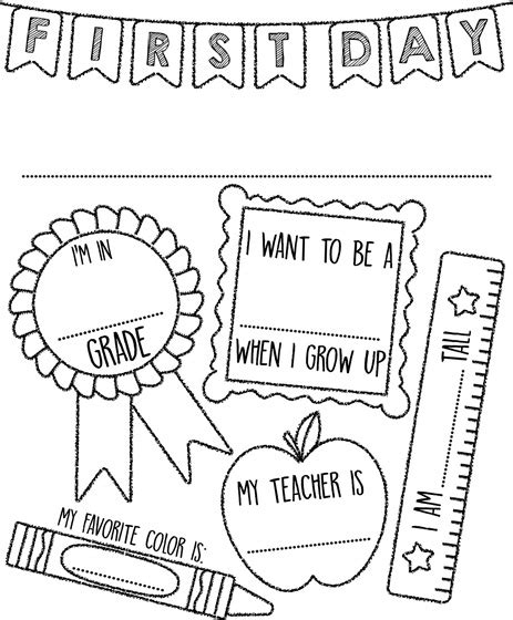 coloring pages beginning school year first day of school sign coloring page crayola com