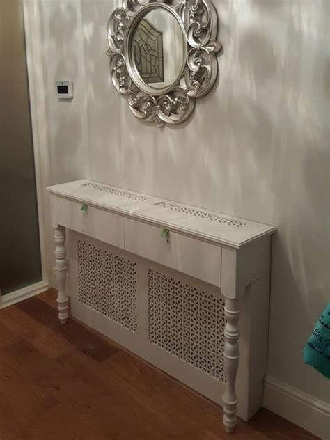 White Slim Bookcase Radiator Cover Console Table Party Ideas Pinterest