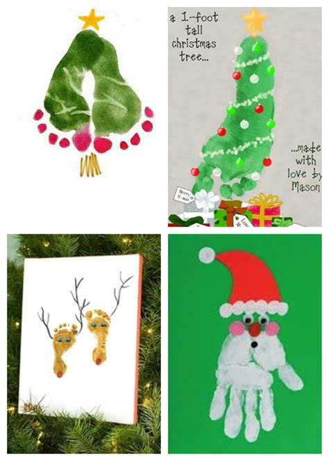 christmas handprint art ideas pinterest etc projects