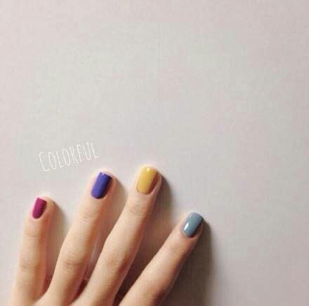 different colored best 25 different color nails ideas on accent