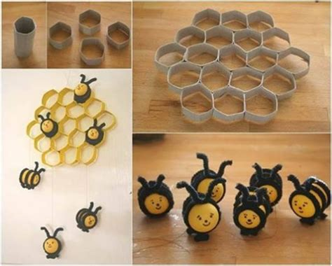 How To Make A Paper Bee - how to make diy bee hive decoration with toilet paper