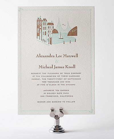 san francisco wedding invitation the best places to buy wedding invitations from printable kits to letterpress