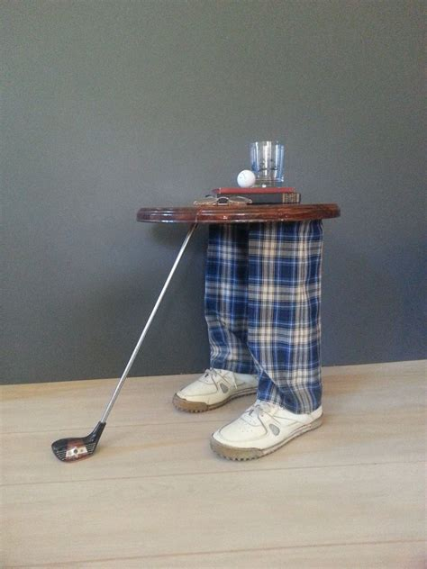 golf home decor side table accent table vintage whimsical golfer s