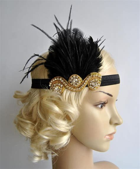 get great gatsby hair 1920s wave and headband youtube gold and black the great gatsby20 s flapper headpiece