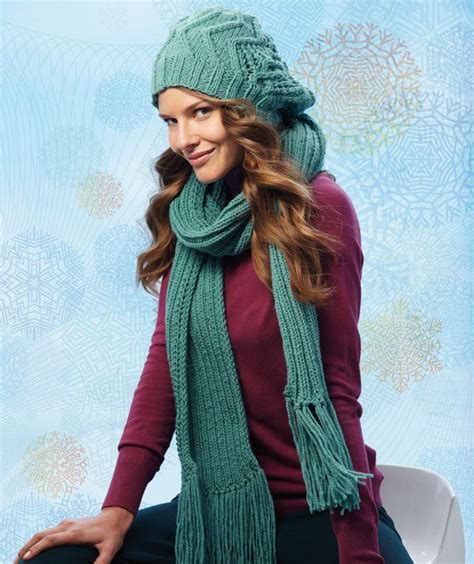 knitting patterns scarves hats beanie with fantasy pattern and scarf free knit pattern