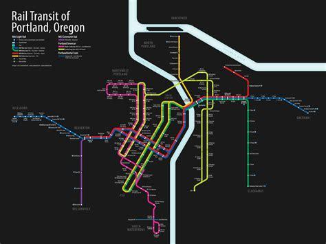 portland transit map updated portland unified rail map september 2012