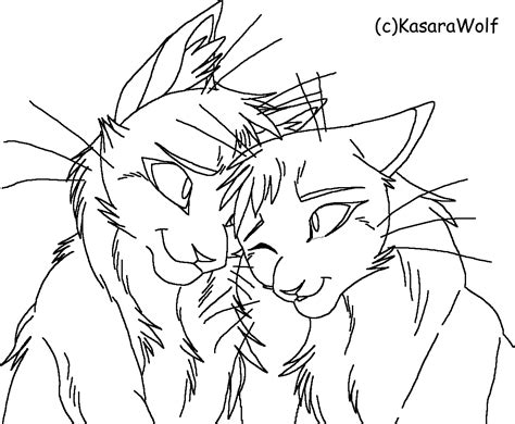 warrior cat coloring  coloring pages