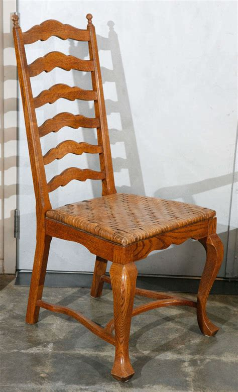ladder back dining room chairs set of 6 ladder back oak dining chairs for sale at 1stdibs