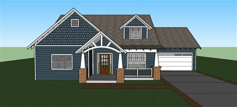 Open Living Space Floor Plans A Modern Craftsman Bungalow Fros Carpentry