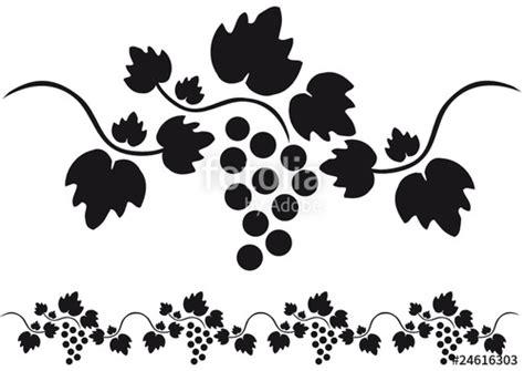 cenefas vectorizadas vector uvas vid racimo silueta cenefa nadal pinterest