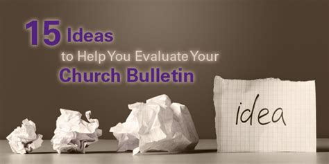 church bulletin cover