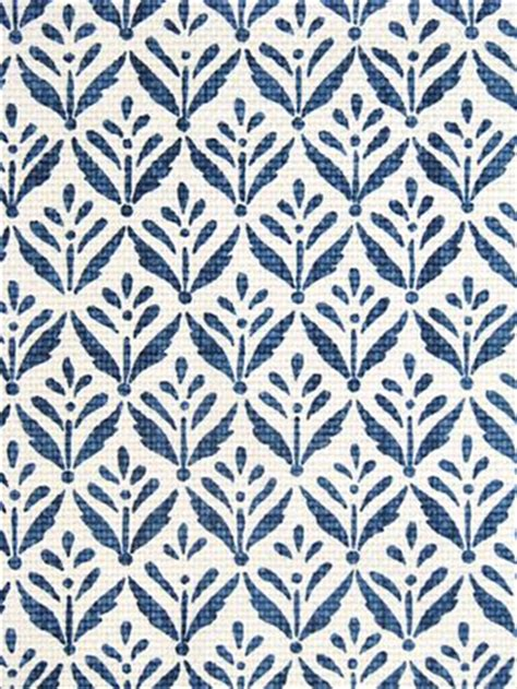 blue pattern material morrison cobalt fabric by color