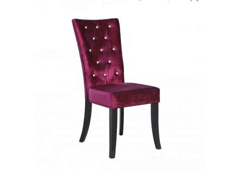 Purple Velvet Dining Chairs Radiance Purple Velvet Dining Chair