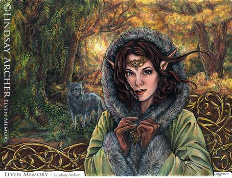 elven memory elven elf color pencil art lindsay archer