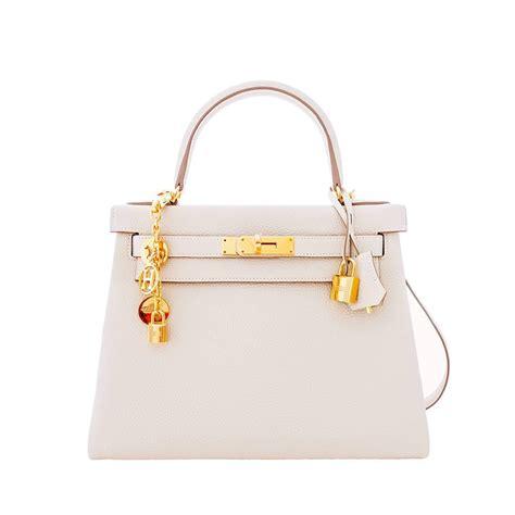 Classic Bag Hermes Birkin by Hermes Craie 28cm Chalk Togo Gold Ghw Shoulder Bag