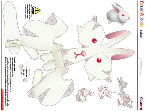 Papercraft Rabbit - papermau easy to build rabbit paper model by canon